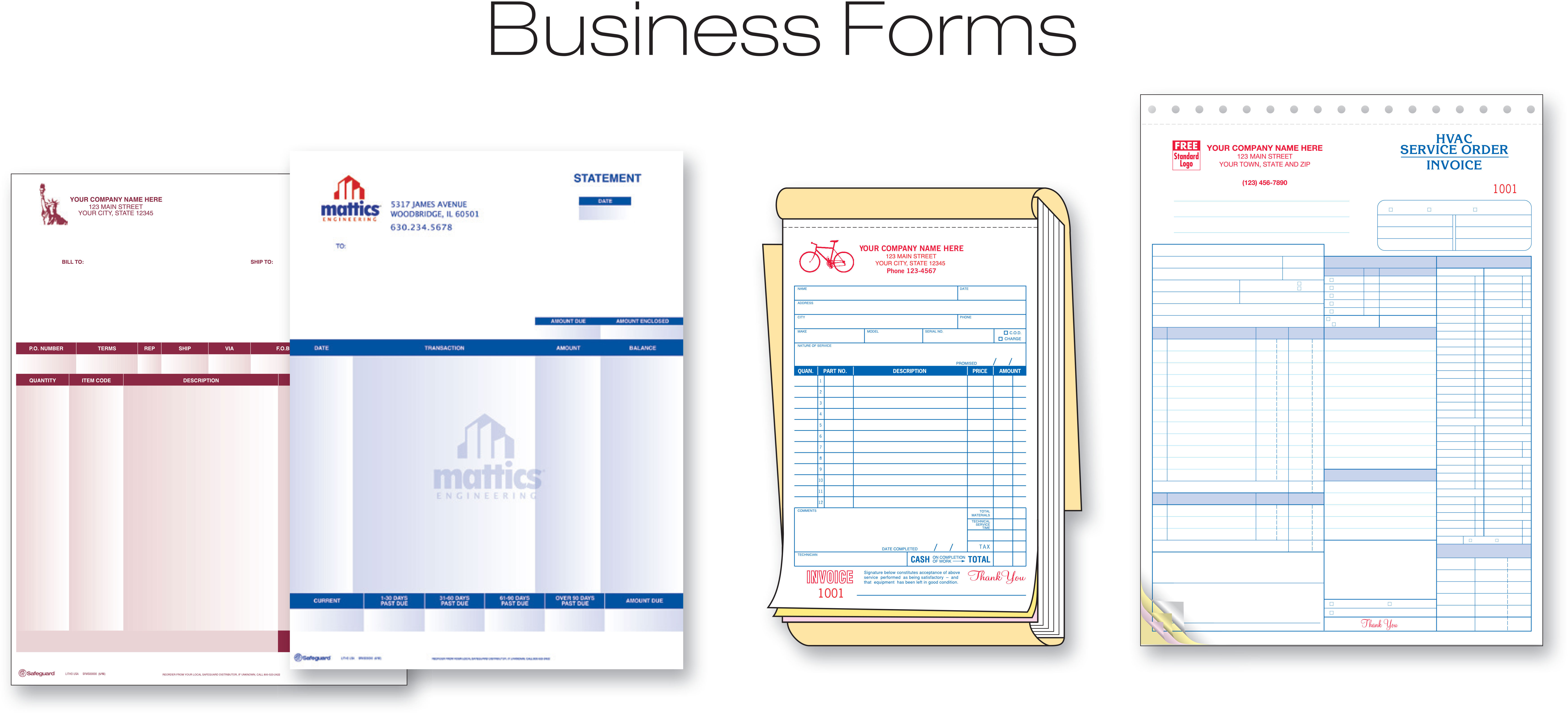 Safegurad® Business Forms
